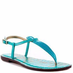Sam Edelman Gigi T Strap Sandal in Turquoise